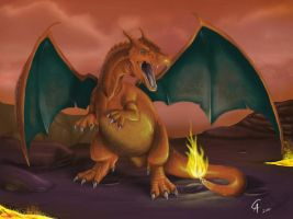 Real Charizard by CamusAltamirano