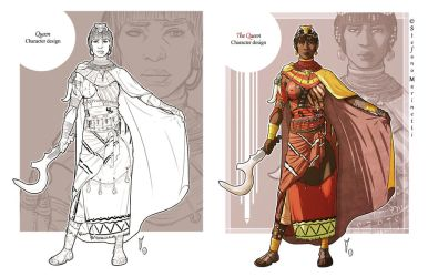 OC: The Queen - character design by StefanoMarinetti