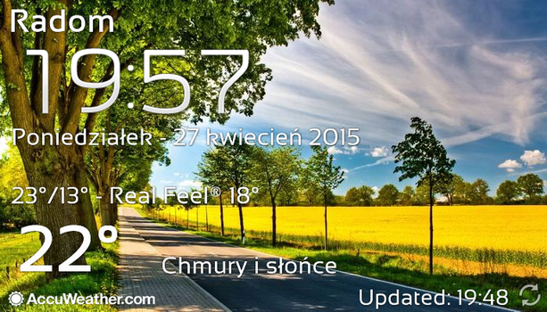 Real Sky Weather Widget and Galaxy Clock ver 2 by Slavoo123
