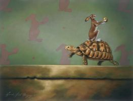 Tortoise And The Hare    small by LindaRHerzog