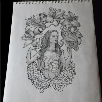 Taurus tattoo sketch by Nelsonito