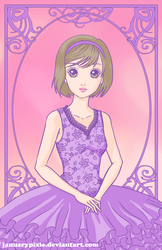 Lilac Ballerina At Rest by PixiePaints