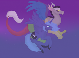 We walking in the air (shipping request) by SilcyBell