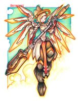 Commission: Mercy - Color Pencil by RobDuenas