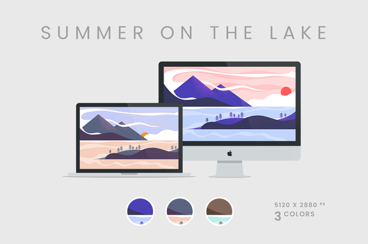 Summer on the Lake Wallpaper 5120x2880px by dpcdpc11