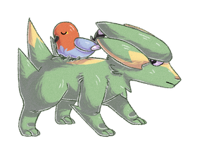 Electrike and Fletchling