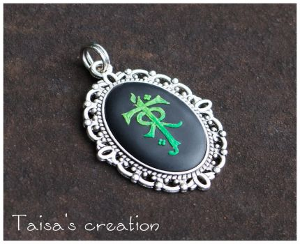 Pendant with Tolkien's Monogram by Taisa-Winged