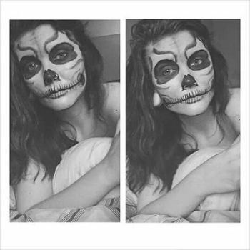 skull makeup by divineame