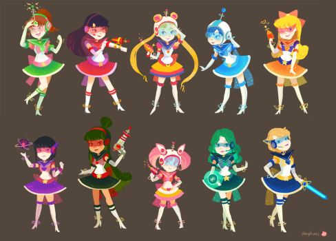Retro Scouts by hyamei