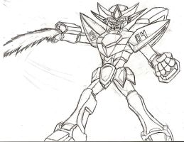 Gundam Unit 3904: Mech Ryu by NeonNeoz