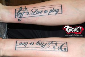 MUSICAL TATTOO TATTOOS by magicstattoostudio