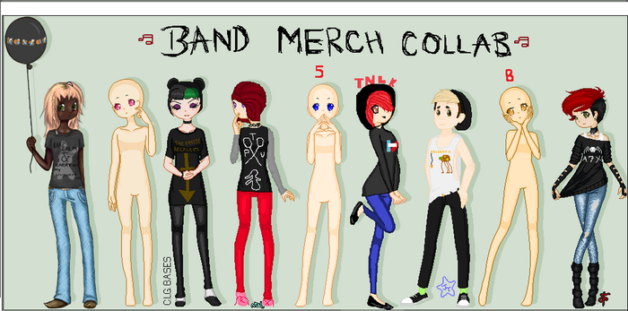 Band Merch Collab  Read All Of Description  By Clg by TheNekoLoverKilljoy