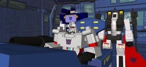 Megatron at the helm by kaxblastard