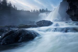 Facing The Waterfall by calleartmark
