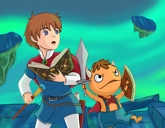 Ni no Kuni: Oliver and Mitey by Keikuina