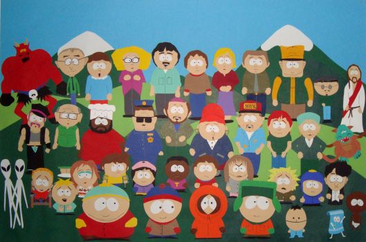 Southpark Papercut by Yoven