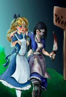 Bad influences (Alice and Alice) by Neon-Lady