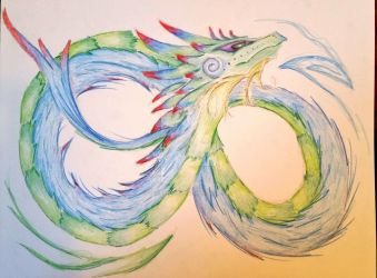 Infinity Dragon (pre water) by Quinnquelyn