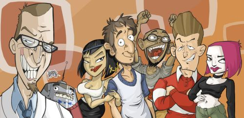 Artrix's take on Clone High by TheArtrix