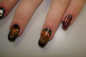 halloween nails 1 by fink