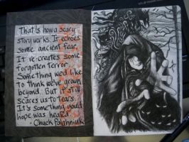 Sketchbook Project 2012 - pages 14-15 by Gothscifigirl
