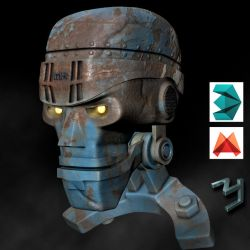 Robot head by ZICIONEL