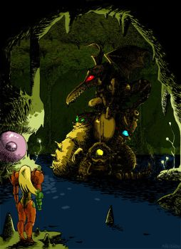 Super Metroid - The Statue by nikisiou
