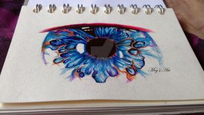 Eye - Biro pen DRAWING by stardust12345