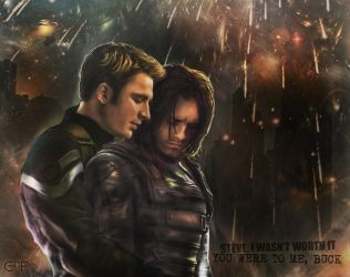 Cap and Bucky - Worth Fighting For by thecannibalfactory