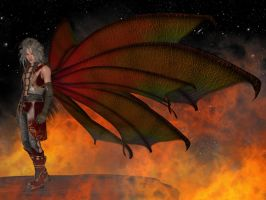 Asche: The Fire Faery by illysArt
