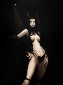 Remaking Demon Girl by sepit