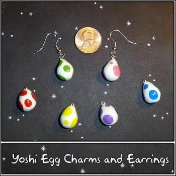 Yoshi Egg Charm Earrings by YellerCrakka