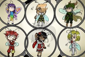 [CLOSED] Tiny bugs adoptables by Tanuki-Adopts