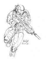 ODST with ma37 by bluelightt