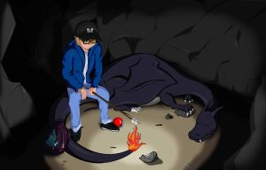 Me and my Charizard by Yukas-Armstrong