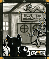 The Blue Dragon Inn by owlburrow