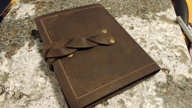 Leather Journal - Back by SilverHauntArmoury