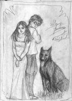 Lily, James and Padfoot by pottering