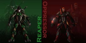 Villainverse Reaper and Oppressor by ThePsychoArtist