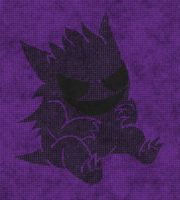 Gengar Outline (Color) by humannamedethan