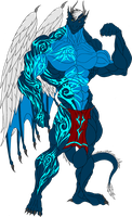 Alex. Eko Draconian Body with Tattoos by ElsewhereWorld