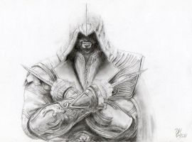 Ezio Auditore (pencil drawing) by YamiMidna