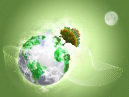 Green Planet by Outraejss