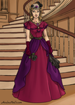 Persephone - Vampire Lady in 19th century Dress by SassyDragon18