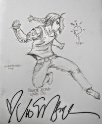 Edward Elric Sketch (SIGNED BY VIC!!!)  by XyvernArtworks