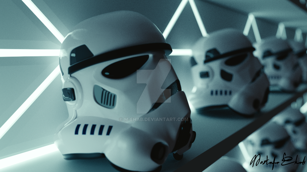 Stromtroopers row of helmets V2 by M-Ehab