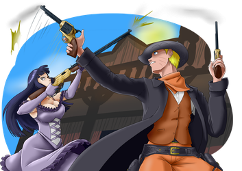 Speed Paint NaruHina the old west by mattwilson83