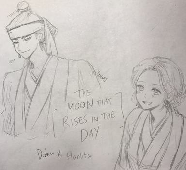 The Moon That Rises In The Day - Doha x Hanlita by CeriaJ
