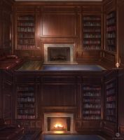 Mansion Library (VN Background) by ExitMothership