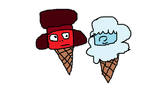 Ruby and Sapphrie ice cream by SonicLover1523